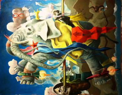 Carousel (The Elephant) 65 x 72
